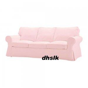 Ikea ektorp 3 seat sofa slipcover cover blekinge pale pink for Pink sofa login