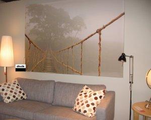 IKEA Premiar JUNGLE JOURNEY WALL ART Print HUGE Canvas TREE Bridge PREMI�R