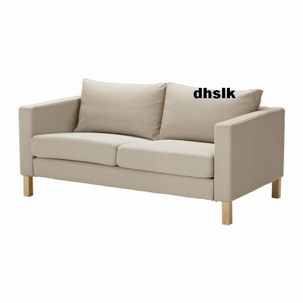 Ikea Karlstad Loveseat Sofa Slipcover Cover Sivik Beige 2