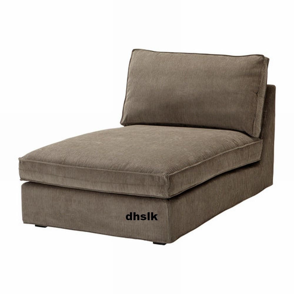 Ikea kivik chaise slipcover cover tranas light brown for Kivik chaise ikea