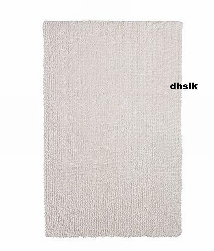 ikea toftbo bath mat bathmat rug white off white cotton. Black Bedroom Furniture Sets. Home Design Ideas