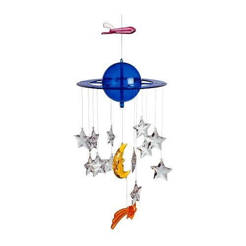 IKEA VIMSIG Nursery MOBILE Planet Star MOON Spaceship ART