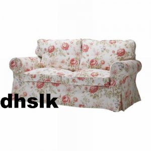 ikea ektorp 2 seat loveseat sofa cover slipcover byvik multi floral bezug housse. Black Bedroom Furniture Sets. Home Design Ideas