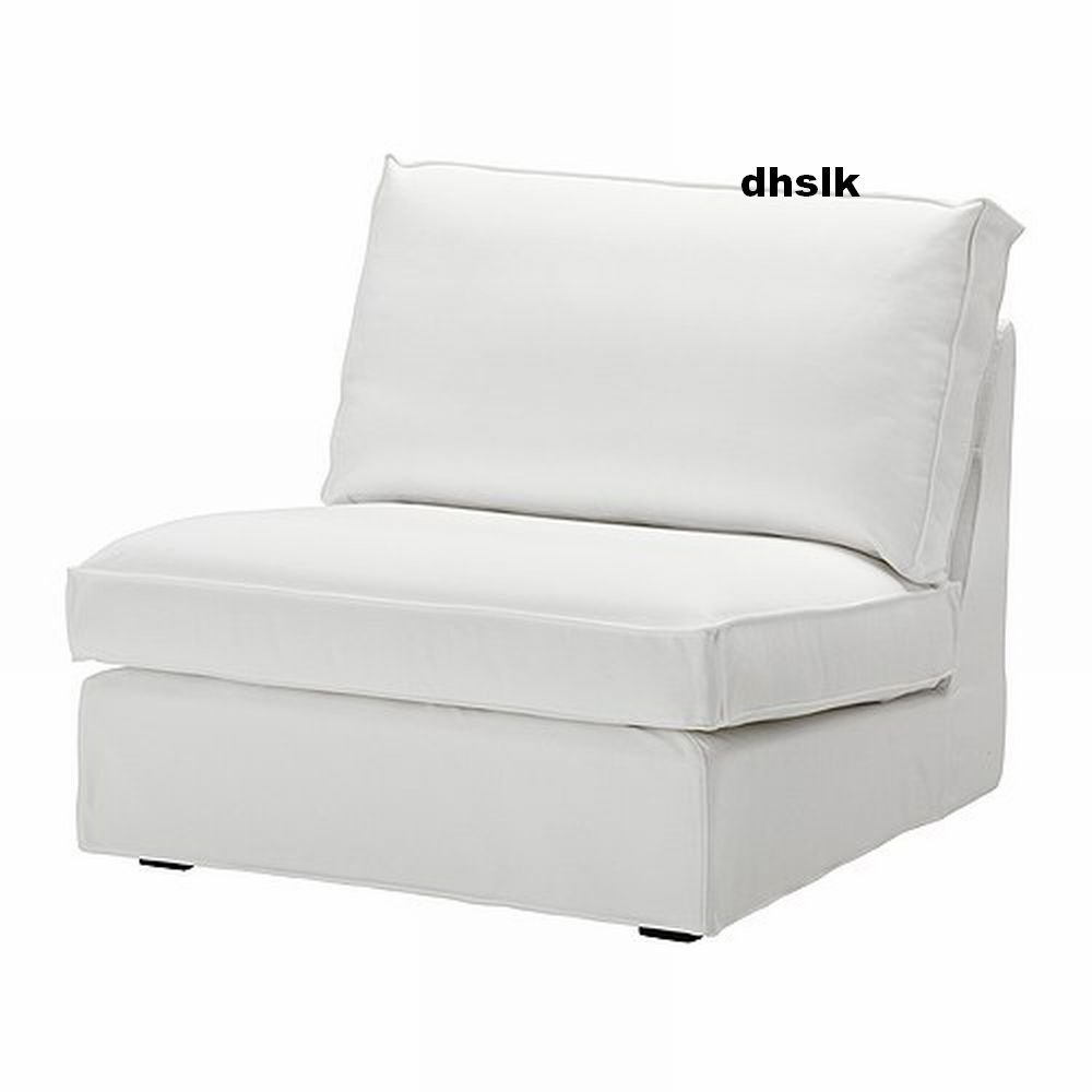 IKEA KIVIK 1 Seat Sofa SLIPCOVER Chair Cover BLEKINGE WHITE Cotton Machine Washable
