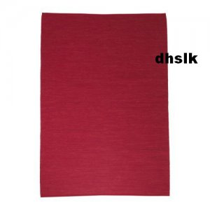 Ikea Erslev Red Large Area Throw Rug Mat Reversible Handwoven