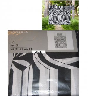 Ikea Myrlilja Twin Duvet Cover Pillowcase Set Retro Swirl