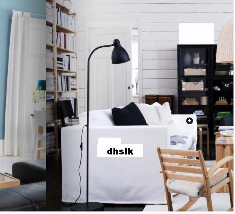 Ikea KARLSTAD 2 Seat Loveseat Sofa SLIPCOVER Cover BLEKINGE WHITE
