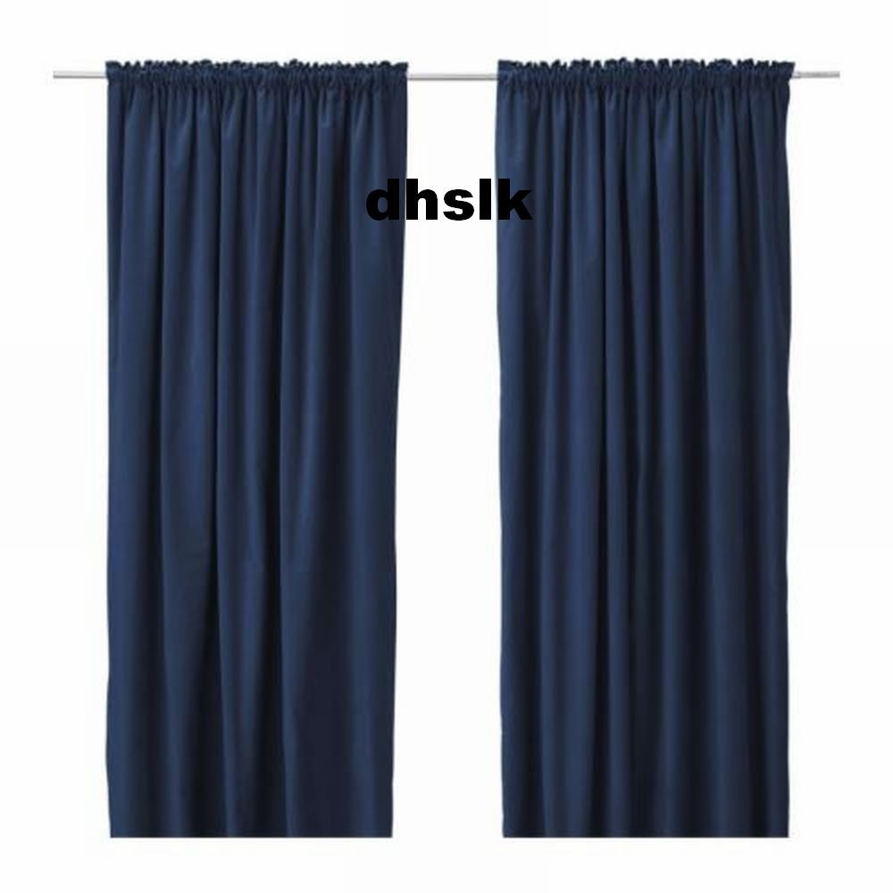 Ikea Sanela Curtains Drapes 2 Panels Blue Velvet 98 Quot Long