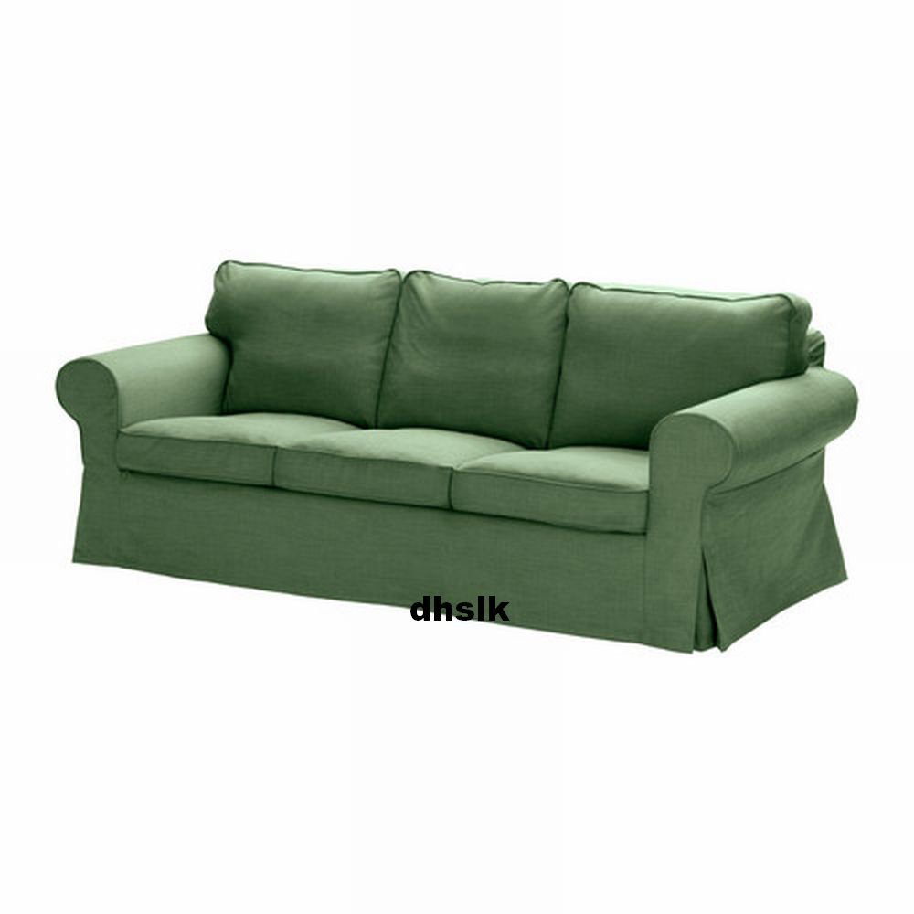 ikea ektorp 3 seat sofa slipcover cover svanby green linen blend last one. Black Bedroom Furniture Sets. Home Design Ideas