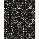 IKEA NATVIDE TWIN Duvet COVER Pillowcases Set ETHNIC Black Yellow BATIK Look