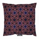 IKEA NATVIDE Pillow Cover Sham ETHNIC African Motif Black Blue Red