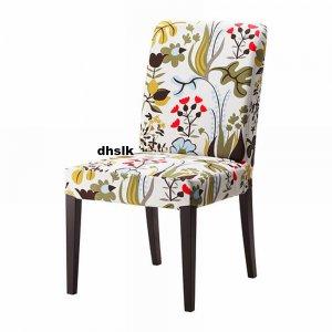 ikea henriksdal chair slipcover cover 21 54cm blomstermala floral blomsterm la multicolor. Black Bedroom Furniture Sets. Home Design Ideas