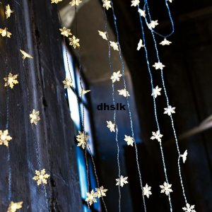 Ikea Strala Snowflake Star Lights Curtain Stars Led Kallt StrÅla Glansa Xmas Holiday