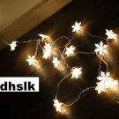 IKEA STRALA Snowflake STAR LIGHT CHAIN 48 LED Kallt STRÅLA Glansa XMAS Snowflakes