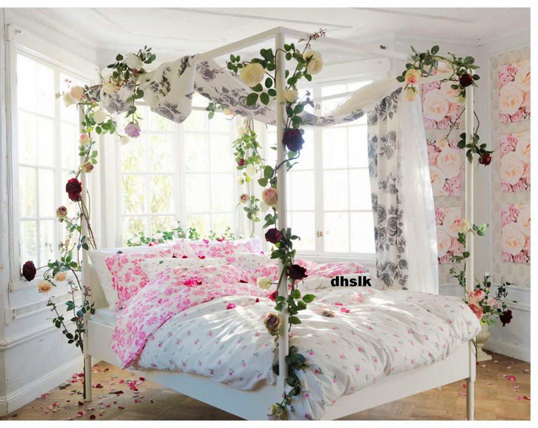 IKEA EMELINA ROS KING Duvet COVER Set PINK ROSES Romantic Wedding