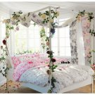 IKEA EMELINA ROS KING Duvet COVER Set PINK ROSES Romantic Wedding