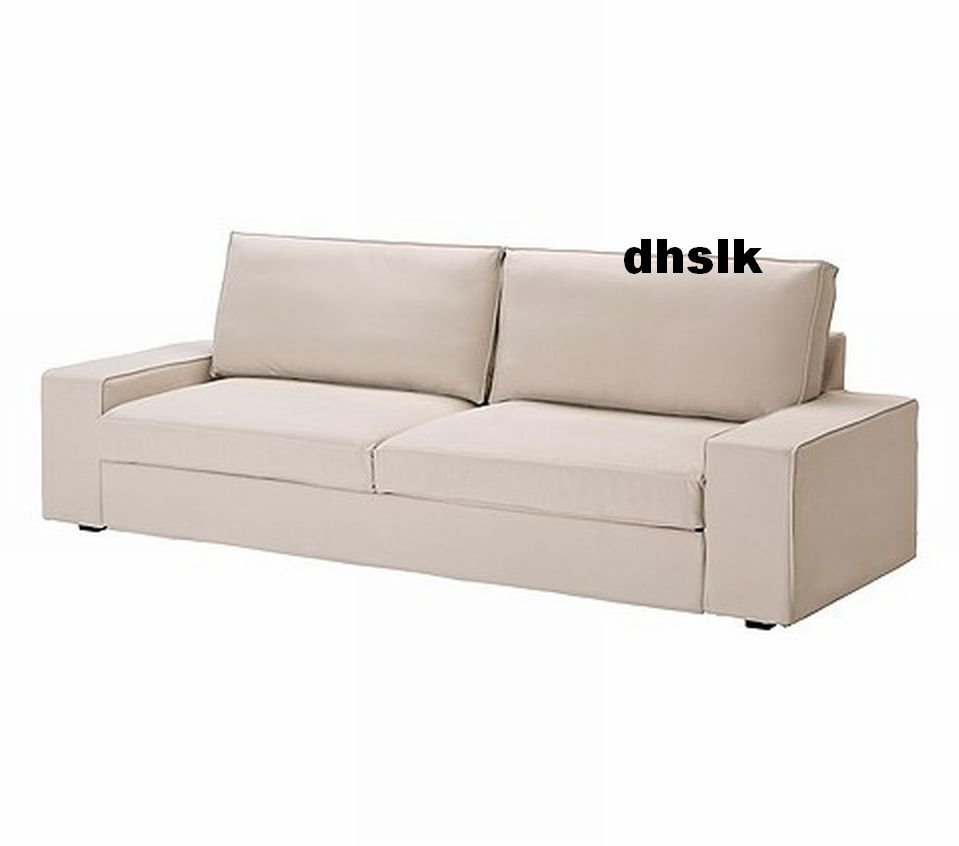 Ikea kivik sofa bed slipcover cover ingebo light beige for Housse sofa ikea