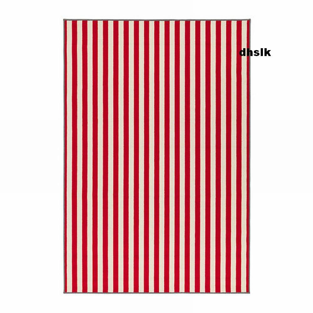 Ikea Off White Rug Canada: IKEA MARGARETA RED Striped Large RUG Area Throw Mat LOW