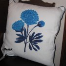 IKEA GRONSKA Grönska CUSHION Accent Pillow BLUE FLOWER Striped Sommar 2018