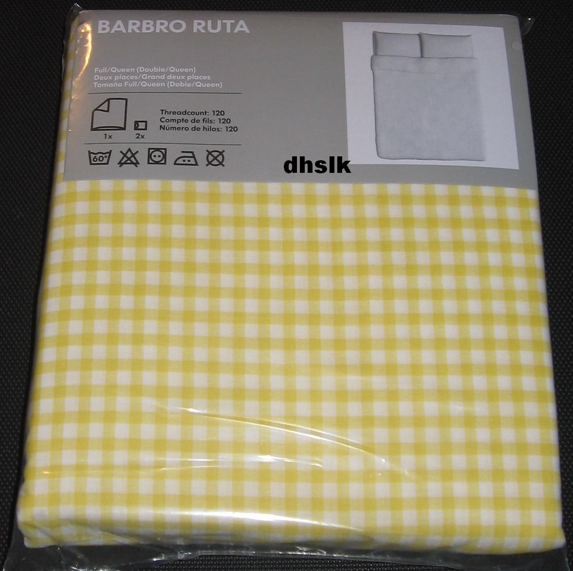 Ikea Barbro Ruta Full Queen Duvet Cover Pillowcases Set
