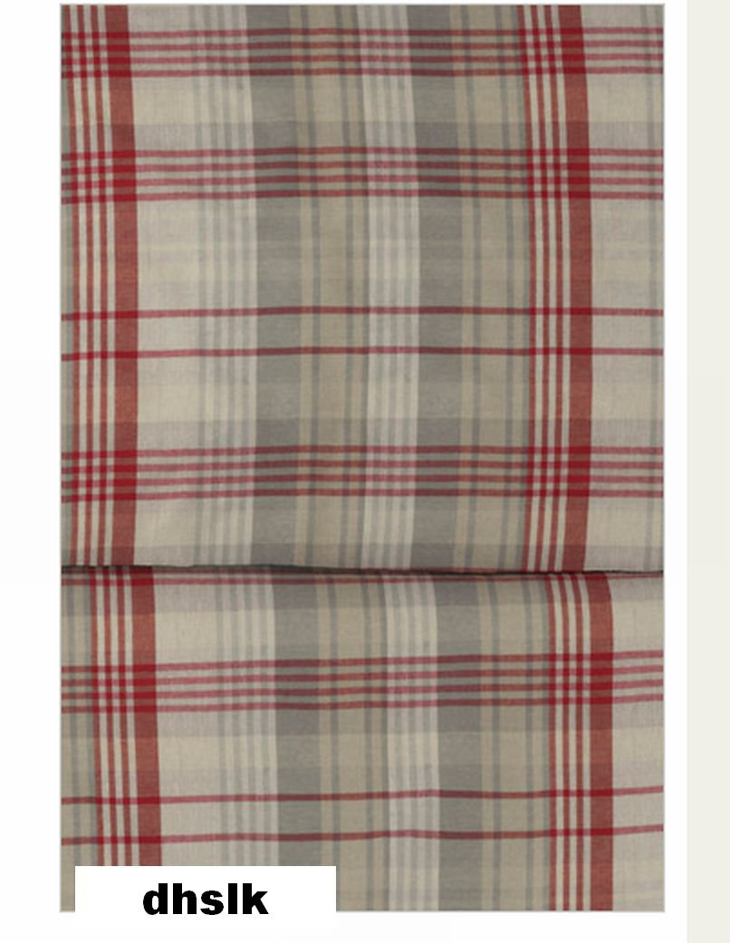 Ikea Benzy Twin Single Duvet Cover Set Red Beige Plaid