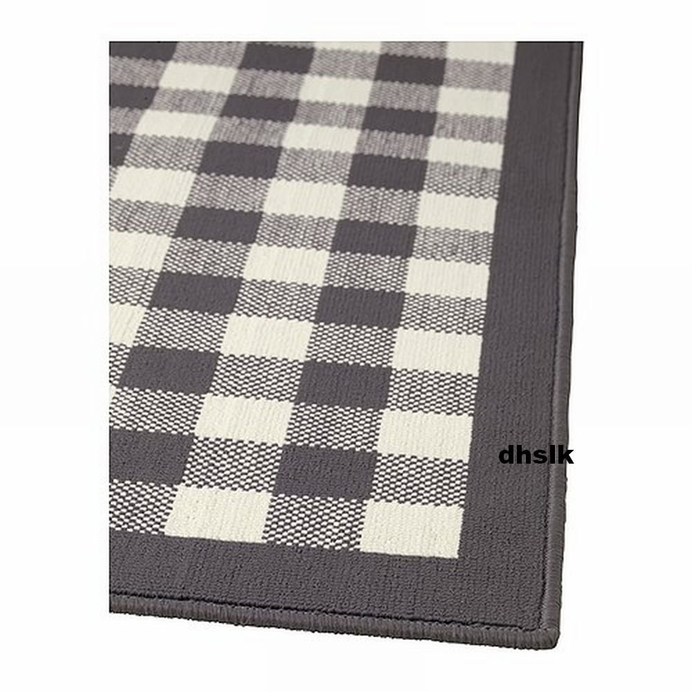 Ikea Millinge Checked Rug Area Throw Door Mat Low Pile