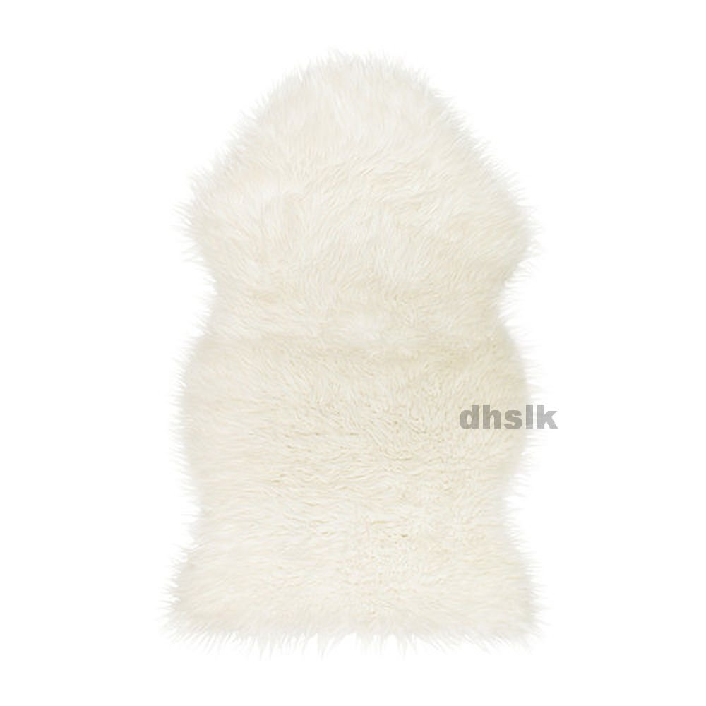 ikea faux sheepskin throw rug accent white soft tejn cuddly relaxing. Black Bedroom Furniture Sets. Home Design Ideas