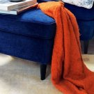 IKEA RITVA ORANGE Throw BLANKET Afghan SOFT Mohair Blend HALLOWEEN Autumn