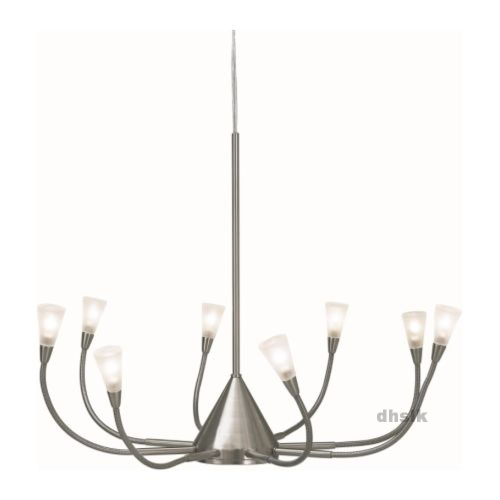Ikea horby chandelier light pendant lamp glass nickel adjustable 8 ikea horby chandelier light pendant lamp glass nickel adjustable 8 arm hrby arubaitofo Images