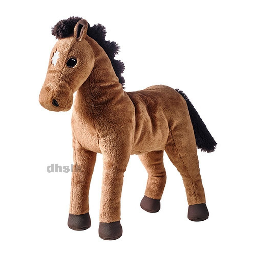 IKEA �KENL�PARE HORSE Brown SOFT Plush Toy OKENLOPARE Pony Colt Filly Animal NWT