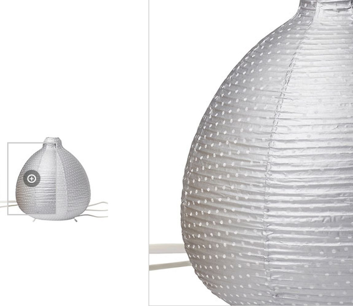 Ikea Vate Silver Gray Table Lamp Light Paper Lantern V 196 Te Polka Dot Grey
