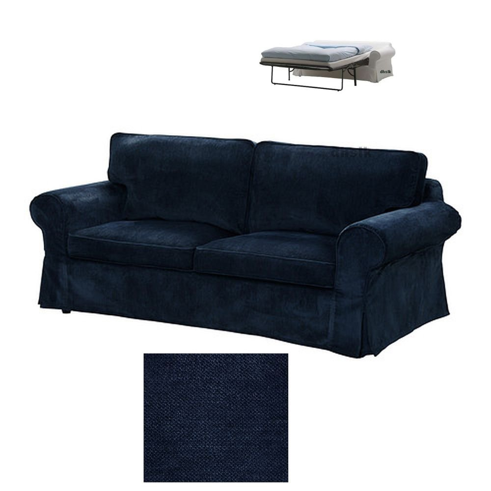 Ikea Ektorp 2 Seat Sofa Bed Slipcover Loveseat Sofabed Cover Vellinge Dark Blue