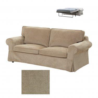 IKEA EKTORP 2 Seat Sofa Bed SLIPCOVER Sofabed Cover VELLINGE BEIGE