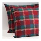 """IKEA ANNBRITT Red Plaid Pillow COVER Sham Cushion Cvr 2 pack 26"""" x 26"""" Square EURO Check"""
