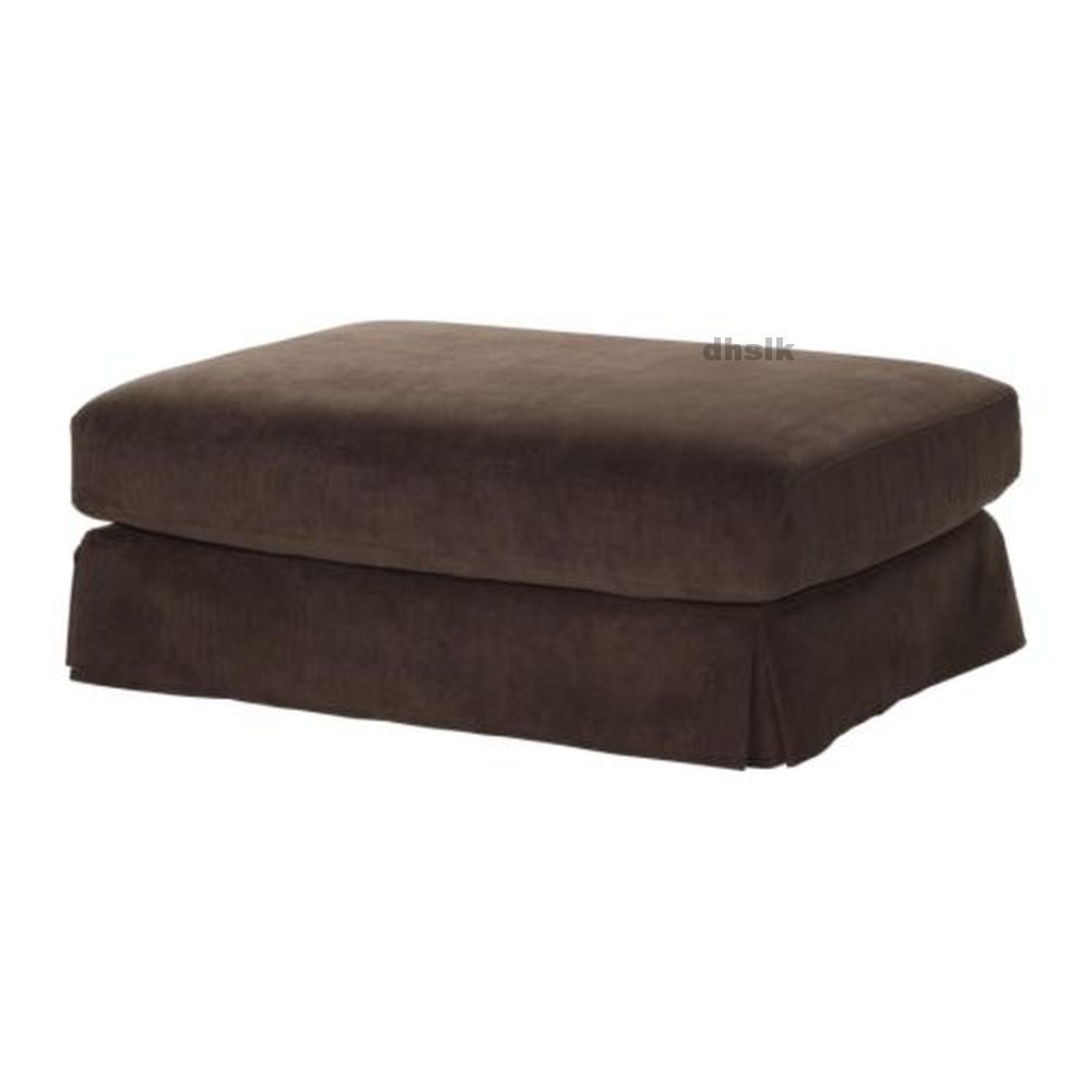 IKEA Hovas FOOTSTOOL SLIPCOVER Ottoman Cover GRADDO BROWN Corduroy Gräddö HOV�S
