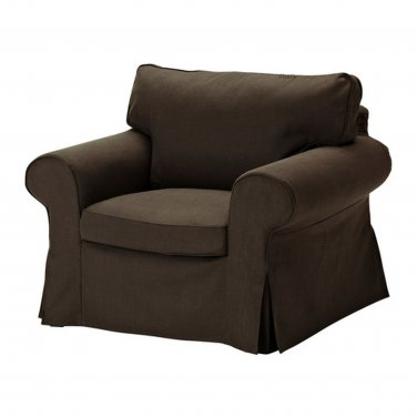 ikea ektorp armchair cover chair slipcover svanby brown bezug housse. Black Bedroom Furniture Sets. Home Design Ideas