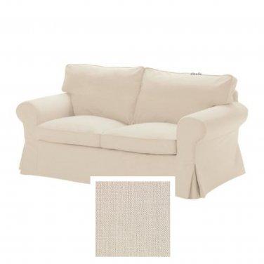IKEA EKTORP 2 Seat Sofa SLIPCOVER Loveseat Cover SVANBY BEIGE Linen Blend