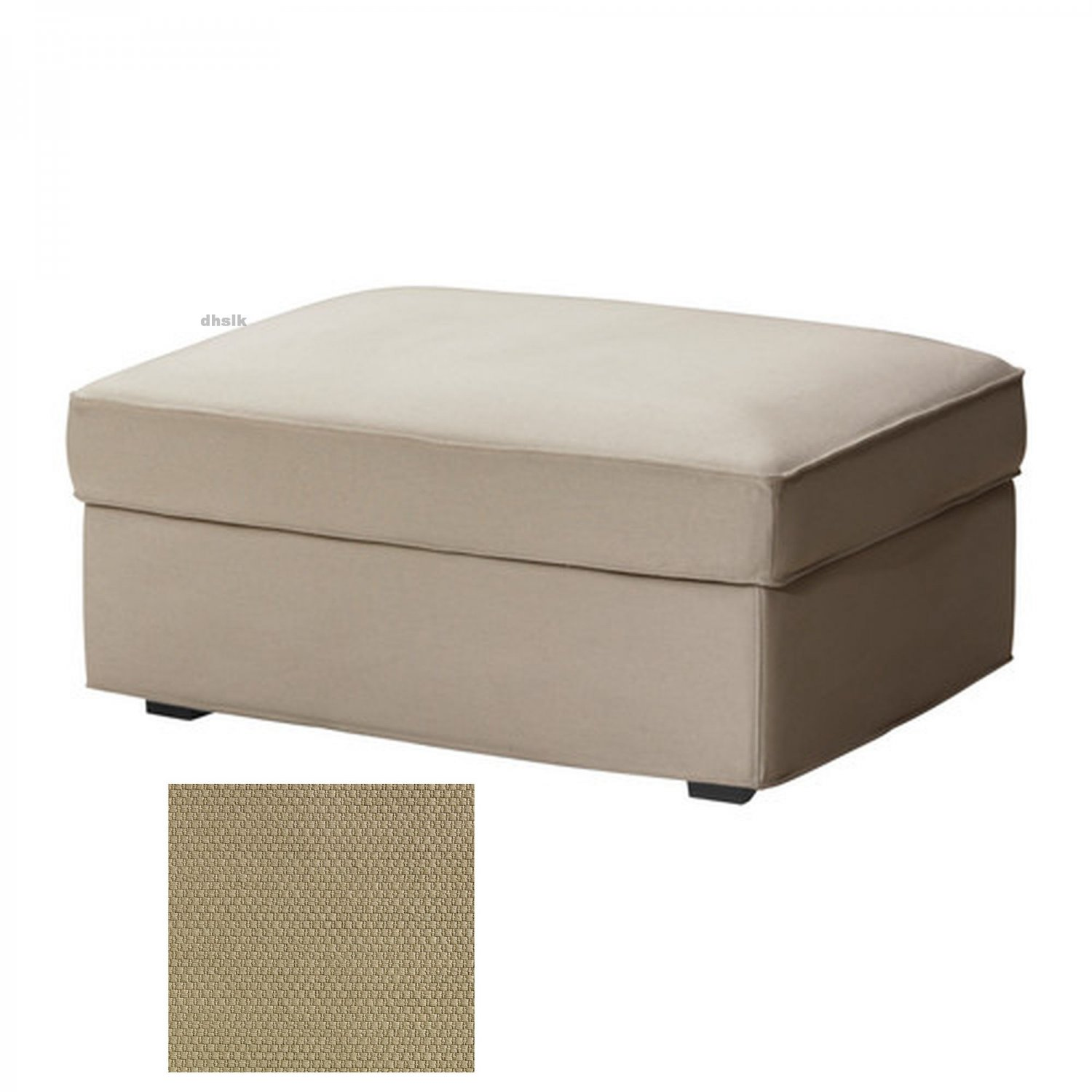 ikea kivik footstool slipcover ottoman cover dansbo beige. Black Bedroom Furniture Sets. Home Design Ideas