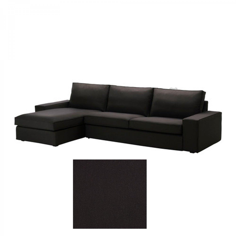 Ikea kivik 3 seat sofa w chaise longue slipcover cover for 3 seat chaise sofa