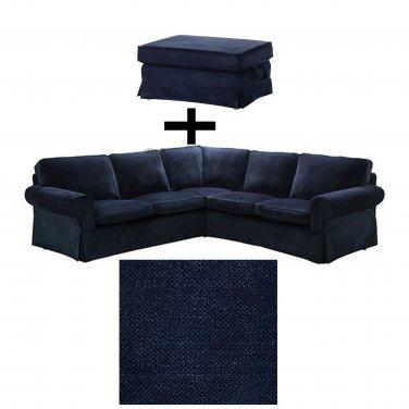 Ikea Ektorp 2 2 Corner Sofa And Bromma Footstool Cover