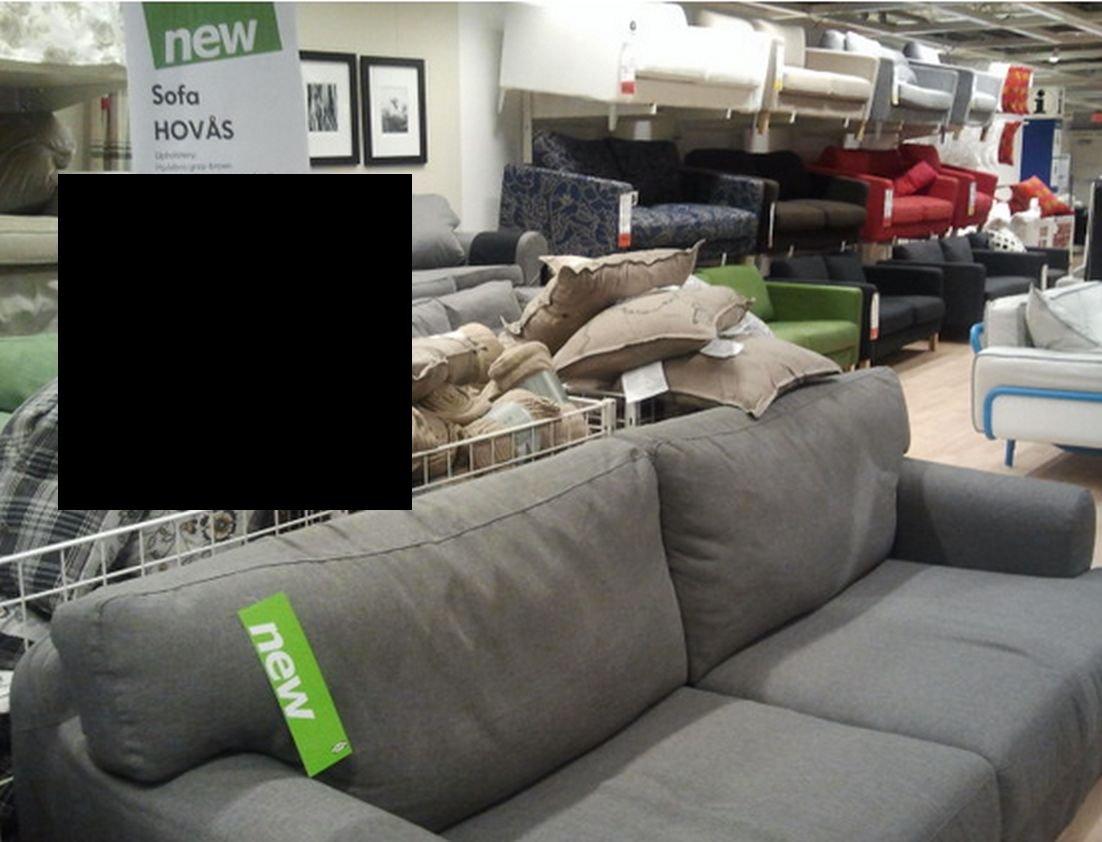 & IKEA HOVÅS Hovas Sofa SLIPCOVER Cover HJULSBRO GRAY Grey