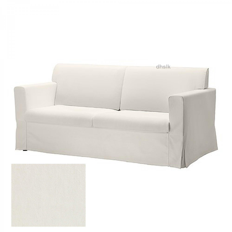 IKEA SANDBY 3 Seat Sofa SLIPCOVER Cover BLEKINGE WHITE