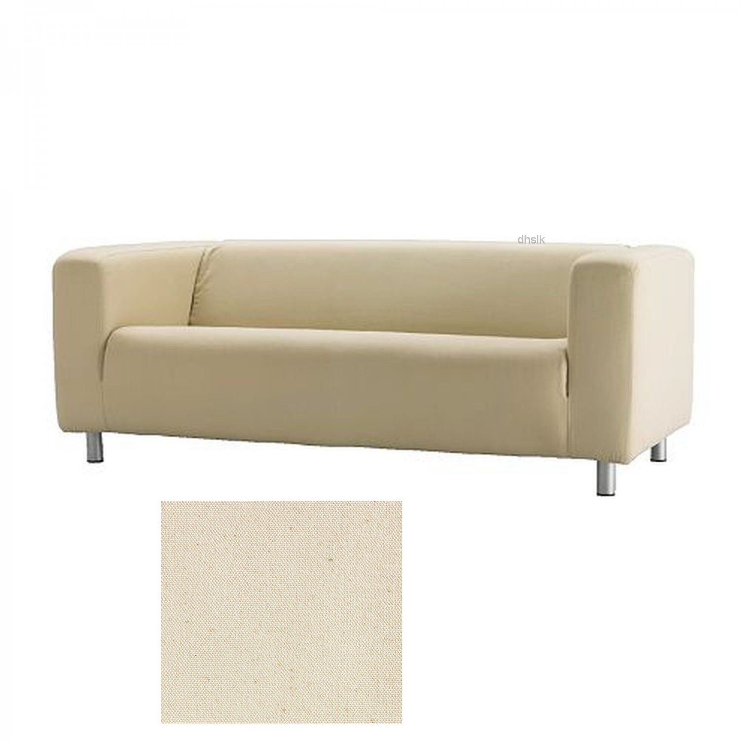 Ikea klippan sofa slipcover cover alme natural beige cotton for Sofa jugendzimmer ikea