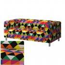 IKEA KLIPPAN Loveseat Sofa SLIPCOVER Cover RANDVIKEN Multicolor LIMITED EDITION Diamond