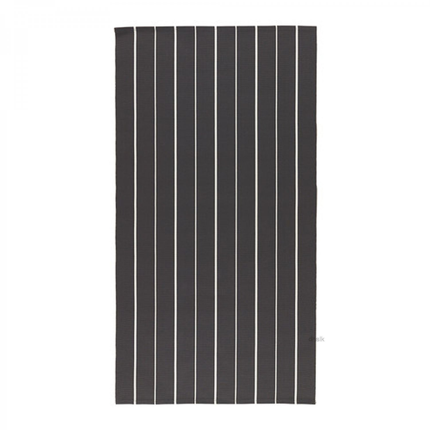 Ikea Soften Black White Stripes Area Throw Rug Mat