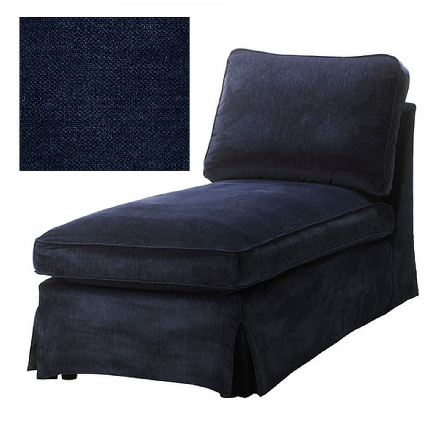 Ikea Ektorp Chaise Longue Cover Slipcover Vellinge Dark