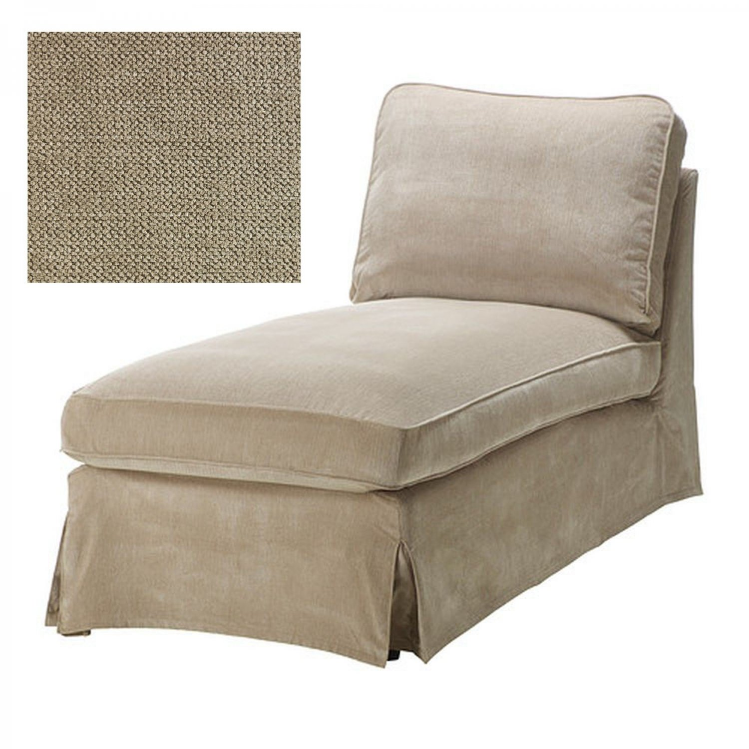 Ikea ektorp chaise longue cover slipcover vellinge beige for Chaise longue ikea