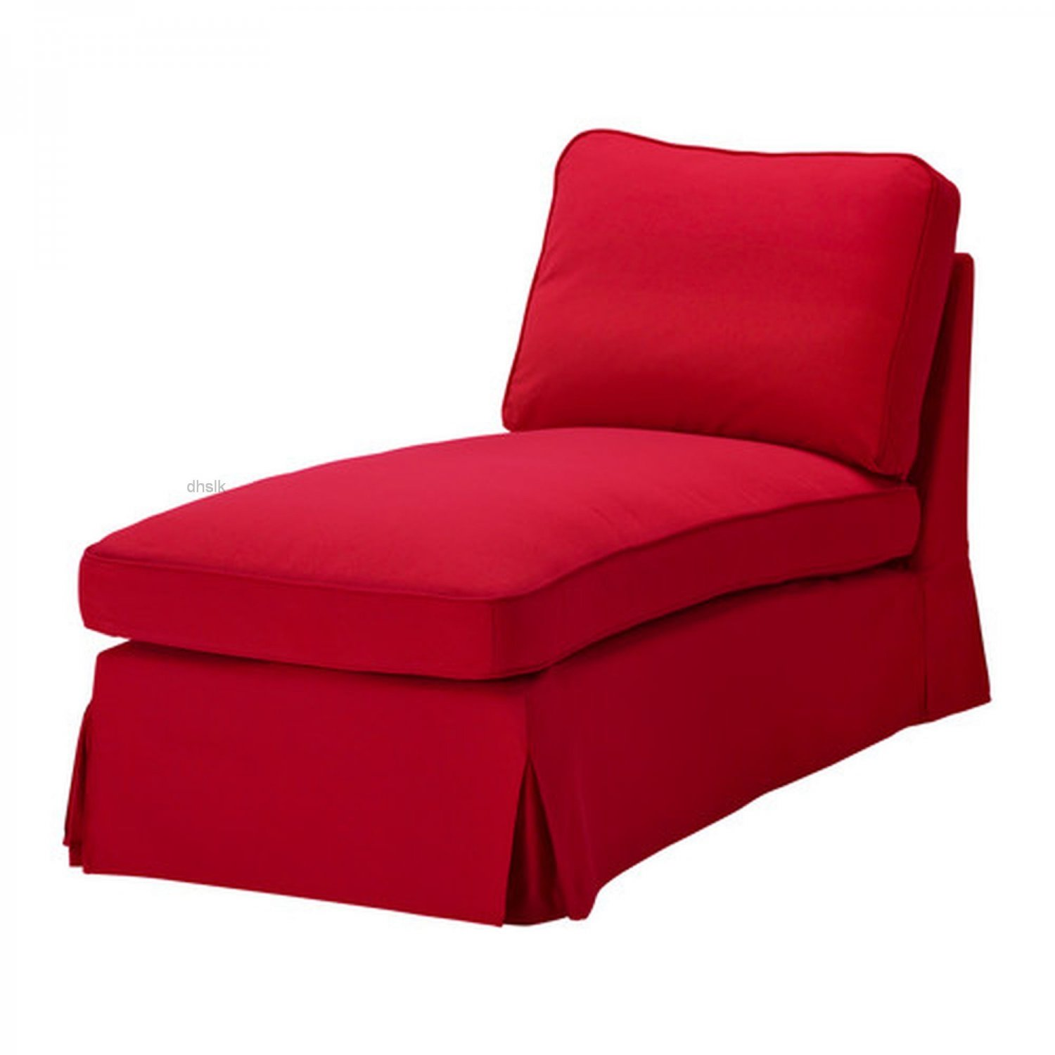 ikea ektorp free standing chaise cover slipcover idemo red. Black Bedroom Furniture Sets. Home Design Ideas