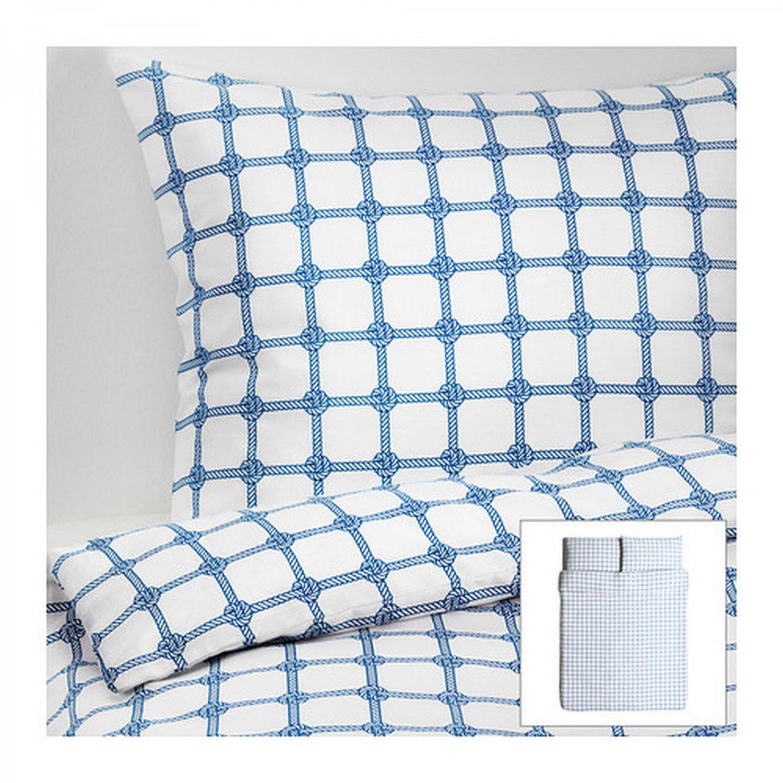 Ikea Lisel Rope Knot Design Queen Full Duvet Cover