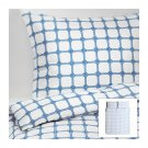 IKEA LISEL Rope Knot Design QUEEN Full DUVET COVER Pillowcases Set BLUE White Nautical
